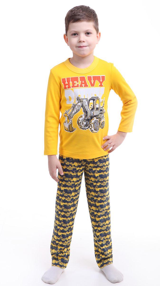 Р218467Красочная пижама для мальчика Свiтанак состоит из джемпера с длинными рукавами и брюк. Пижама изготовлена из натурального хлопка, она мягкая, приятная на ощупь, не сковывает движения, не сдавливает в области резинки и не натирает в области швов. Пижама позволяет коже ребенка «дышать». Джемпер с ярким модным и необычным принтом. Брюки имеют мягкую, эластичную резинку, которая не оставляет следов на коже и не стягивает живот ребенка. Яркий и современный дизайн прекрасно дополнят гардероб Вашего ребенка. УВАЖАЕМЫЕ ПОКУПАТЕЛИ! Обращаем ваше внимание – аппликация и расцветка могут отличается от представленного на изображении