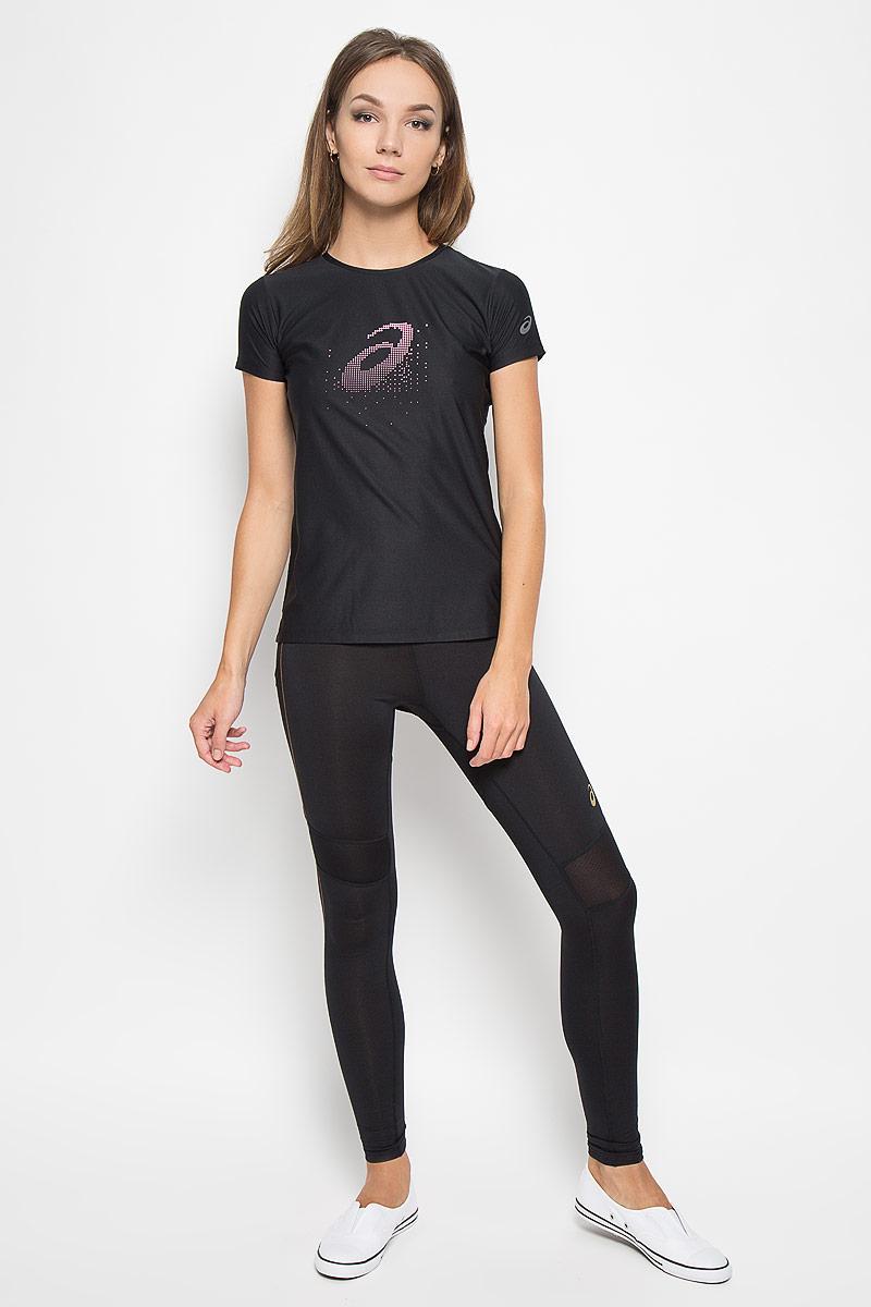 134105-0904Женская футболка Asics Graphic Ss Top предназначена специально для бега. Эта легкая беговая футболка обеспечит вам безупречный комфорт и достижение высоких спортивных результатов благодаря мягкой, эластичной ткани, которая отводит влагу и поддерживает тело сухим. Плоские швы не натирают кожу и обеспечивают полный комфорт.Футболка декорирована светоотражающим логотипом бренда. Максимальный комфорт и уникальный спортивный образ!