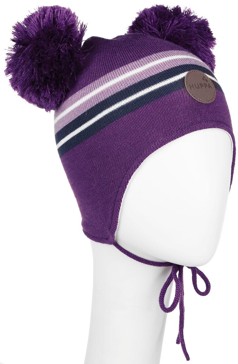 Шапка детская80350000-60020Вязанная шапка для девочки Huppa Minny станет отличным дополнением к детскому гардеробу. Верх изделия изготовлен из натуральной акрила с добавлением шерсти, а подкладка из качественного хлопка, что обеспечивает тепло и комфорт. Благодаря эластичной вязке, шапка идеально прилегает к голове ребенка. Шапка оформлена контрастными полосками и на макушке декорирована двумя пушистыми помпонами. Изделие завязывается на шнурочки, тем самым обеспечивает тепло в холодную погоду и защищает детские ушки от холода. Дополнена шапочка нашивкой с названием бренда. Оригинальный дизайн и расцветка делают эту шапку стильным предметом детского гардероба. В ней ребенку будет тепло, уютно и комфортно. Уважаемые клиенты! Размер, доступный для заказа, является обхватом головы.