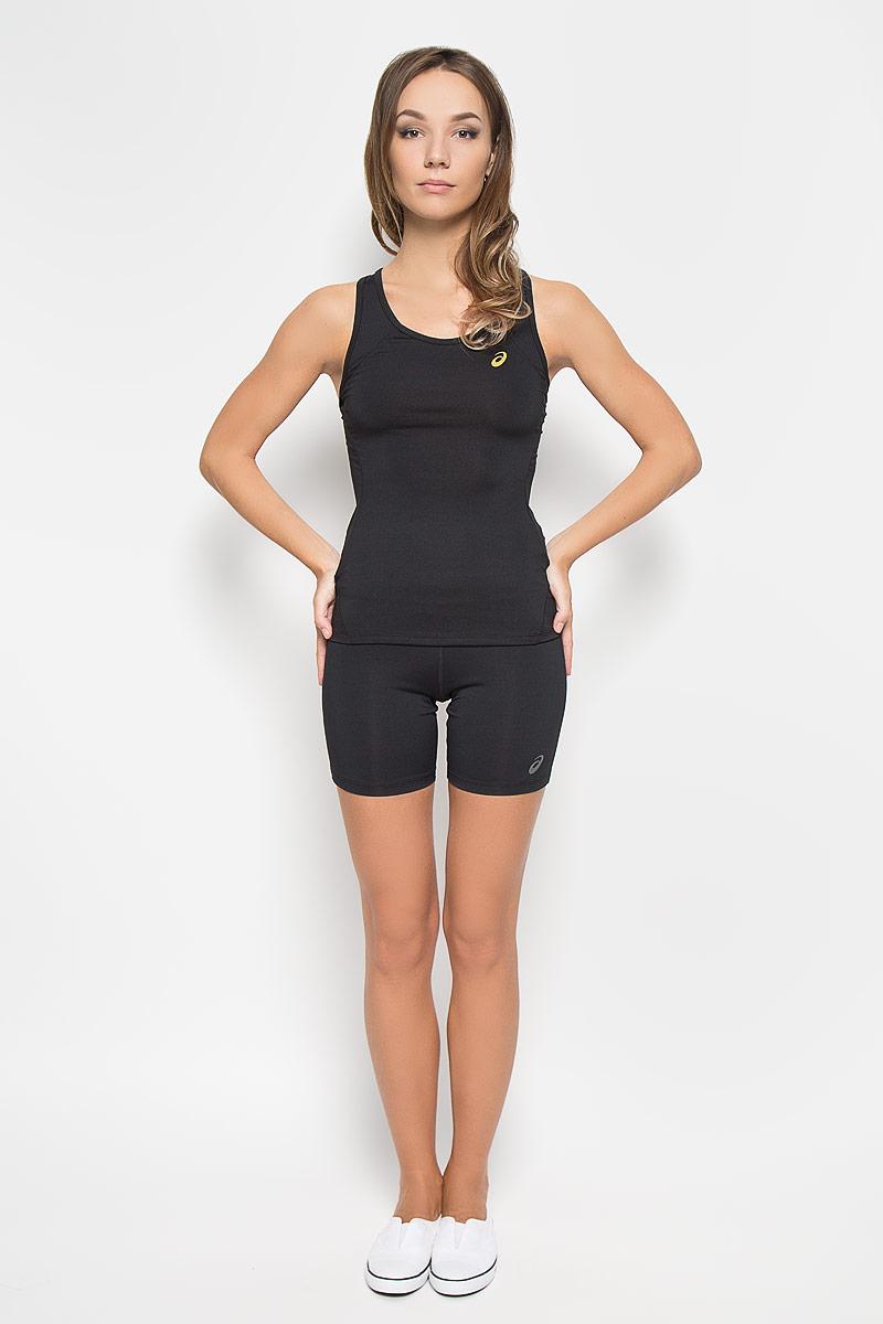 Майка134457-0904Стильная женская майка для фитнеса Asics Sports, выполненная из эластичного полиэстера, обладает высокой теплопроводностью, воздухопроницаемостью и отводит влагу от тела, оставляя кожу сухой. Она великолепно подойдет для интенсивных спортивных занятий. Майка на широких бретельках с круглым вырезом горловины превосходно дополнит ваш спортивный гардероб. Модель оформлена логотипом производителя спереди, спинка-борцовка украшена оригинальным вырезом. В такой майке вы всегда будете чувствовать себя уверенно и уютно и непременно достигнете новых спортивных высот.