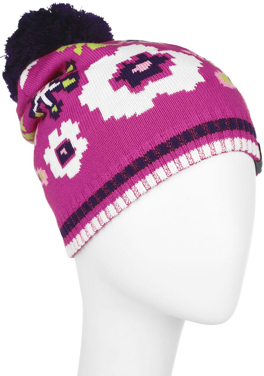 Шапка детская80360000-60020Вязанная шапка для девочки Huppa Floral станет отличным дополнением к детскому гардеробу. Изделие изготовлено из теплой мериносовой шерсти с добавлением акрила, что обеспечивает тепло и комфорт. Благодаря эластичной вязке, шапка идеально прилегает к голове ребенка. Шапка с пушистым помпоном украшена цветочным принтом. Спереди модель дополнена светоотражающей нашивкой. Оригинальный дизайн и расцветка делают эту шапку стильным предметом детского гардероба. В ней ребенку будет тепло, уютно и комфортно. Уважаемые клиенты! Размер, доступный для заказа, является обхватом головы.