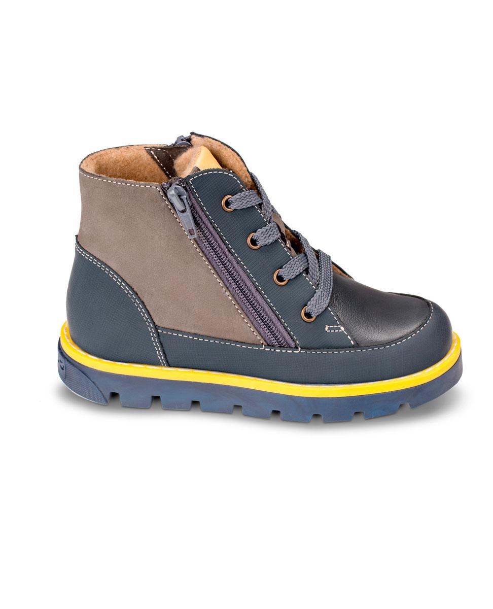 FT-23004.16-OL12O.01Утепленные ботинки от TapiBoo придутся по душе как аленьким непосдам, так и их родителям. Многослойная, анатомическая стелька гарантирует правильное формирование стопы. Жесткий фиксирующий задник с удлиненным крылом надежно стабилизирует голеностопный сустав во время ходьбы. Упругая, умеренно-эластичная подошва, имеющая перекат позволяющий повторить естественное движение стопы при ходьбе для правильного распределения нагрузки на опорно-двигательный аппарат ребенка. Подкладка из байки Lanatex поддерживает комфортную температуру внутри обуви при погодных условиях от +5°С до -5°С градусов. Для дополнительного удобства полуботинки снабжены двумя застежками-молниями, что позволяет легко, не расшнуровывая, снимать и надевать обувь.