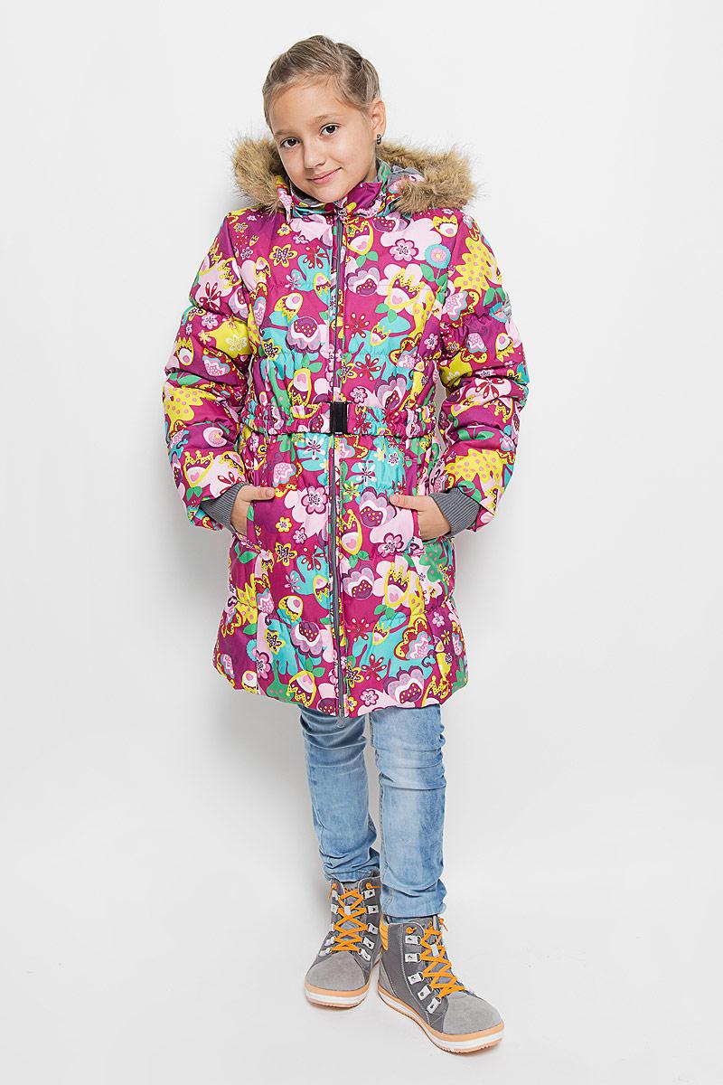 Пальто для девочек YACARANDA. 12030030-6136312030030-61363Пальто для девочек YACARANDA, водо и воздухонепроницаемость 10 000, утеплитель 300 гр, отстегивающийся капюшон с мехом. Двухсторонняя молния. Вязаные детали. Внутренний манжет. На изделии присутствуют светоотражатели для безопасности вашего ребенка в темное время суток.