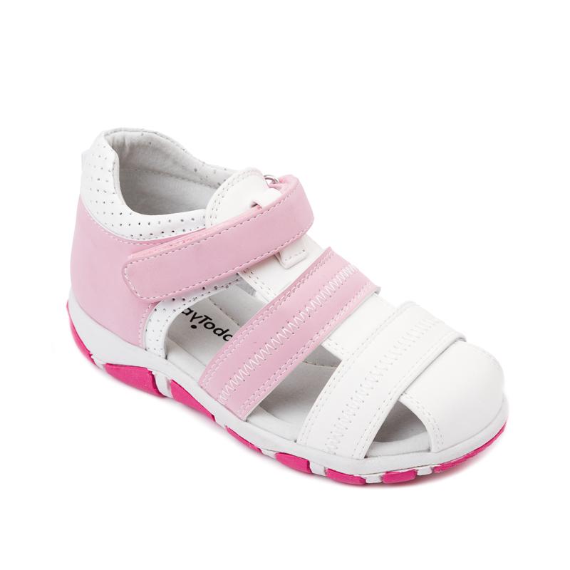 368211Удобные сандалии для девочки PlayToday из искусственной кожи. Внутри мягкая полуортопедическая стелька и подкладка из натуральной кожи. Пятка с твердым задником и мягким кантом способствует правильному формированию стопы. Удобно застегиваются на липучку.