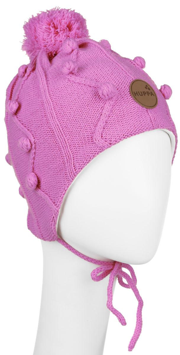 Шапка детская83880000-60020Вязанная шапка для девочки Huppa Ulla станет отличным дополнением к детскому гардеробу. Верх изделия изготовлен из натуральной акрила, а подкладка из качественного хлопка, что обеспечивает тепло и комфорт. Благодаря эластичной вязке, шапка идеально прилегает к голове ребенка. Шапка оформлена вязанным узором, на макушке модель имеет мягкий помпон. Изделие завязывается на шнурочки, тем самым обеспечивает тепло в холодную погоду и защищает детские ушки от холода. Дополнена шапочка нашивкой с названием бренда. Оригинальный дизайн и расцветка делают эту шапку стильным предметом детского гардероба. В ней ребенку будет тепло, уютно и комфортно. Уважаемые клиенты! Размер, доступный для заказа, является обхватом головы.