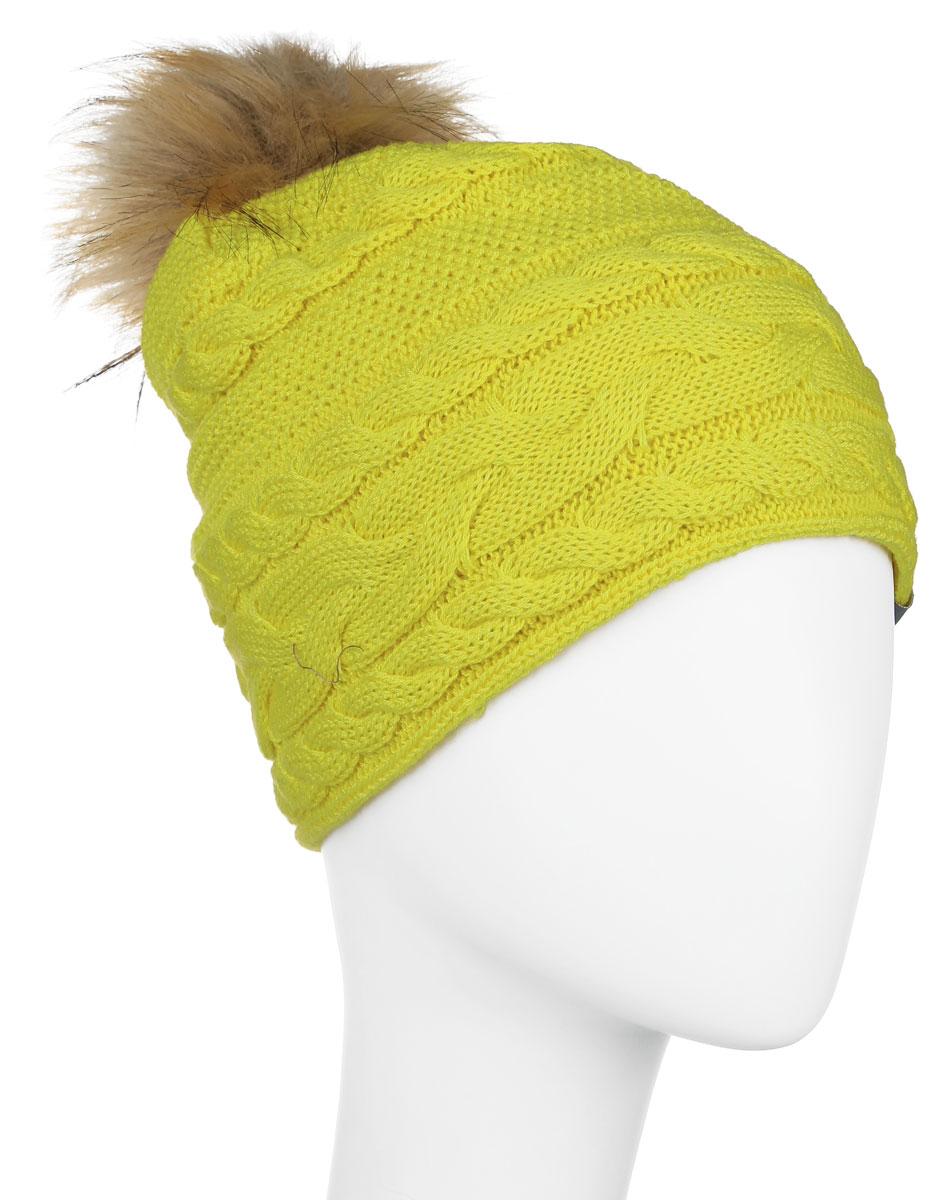 Шапка детская80210000-60020Вязанная шапка для девочки Huppa Melissa станет отличным дополнением к детскому гардеробу. Изделие изготовлено из натуральной шерсти с добавлением акрила, что обеспечивает тепло и комфорт. Благодаря эластичной вязке, шапка идеально прилегает к голове ребенка. Шапка с пушистым меховым помпоном оформлена вязаным узором, спереди украшена светоотражающей нашивкой с логотипом бренда. Оригинальный дизайн и расцветка делают эту шапку стильным предметом детского гардероба. В ней ребенку будет тепло, уютно и комфортно. Уважаемые клиенты! Размер, доступный для заказа, является обхватом головы.