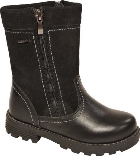 11198-1Полусапоги от Зебра выполнены из натуральной кожи в сочетании с натуральной замшей. Застежка-молния надежно фиксирует изделие на ноге. Мягкая подкладка и стелька из натурального меха обеспечивают тепло, циркуляцию воздуха и сохраняют комфортный микроклимат в обуви.