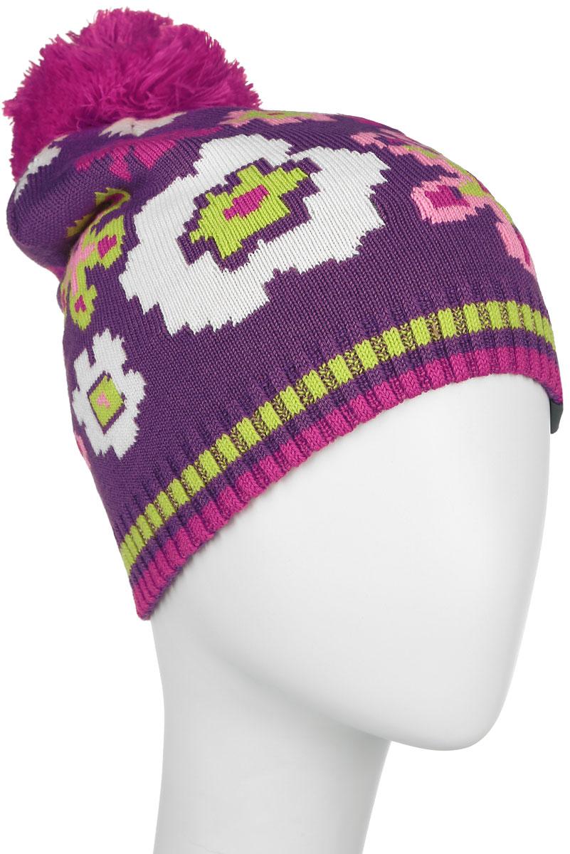 80360000-60020Вязанная шапка для девочки Huppa Floral станет отличным дополнением к детскому гардеробу. Изделие изготовлено из теплой мериносовой шерсти с добавлением акрила, что обеспечивает тепло и комфорт. Благодаря эластичной вязке, шапка идеально прилегает к голове ребенка. Шапка с пушистым помпоном украшена цветочным принтом. Спереди модель дополнена светоотражающей нашивкой. Оригинальный дизайн и расцветка делают эту шапку стильным предметом детского гардероба. В ней ребенку будет тепло, уютно и комфортно. Уважаемые клиенты! Размер, доступный для заказа, является обхватом головы.