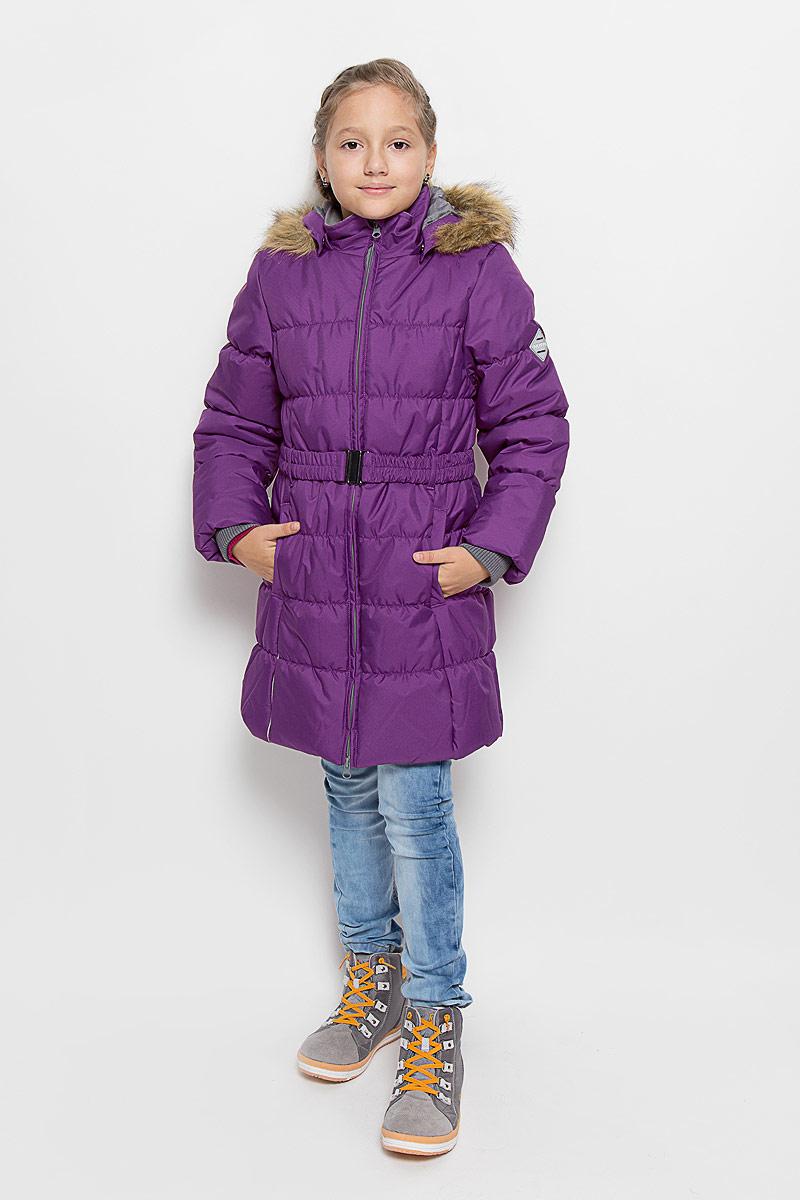 Пальто12030030-60063Стильное пальто для девочки Huppa Yacaranda станет замечательным дополнением к гардеробу. Оно изготовлено из водо- и ветронепроницаемой ткани. Ткань с обратной стороны покрыта слоем полиуретана с микропорами, который препятствует прохождению воды и ветра, но в то же время позволяет испаряться влаге, выделяемой телом. Материал имеет высокие показатели износостойкости. Сплетения волокон в тканях выполнены по специальной технологии, которая придает ткани прочность и предохраняет от истирания. В качестве наполнителя используется HuppaTerm - высокотехнологичный легкий синтетический утеплитель нового поколения. Уникальная структура микроволокон не позволяет проникнуть внутрь холодному воздуху, в то же время удерживая теплый между волокнами, обеспечивая высокую теплоизоляцию. Подкладка выполнена из полиэстера. Изделие легко стирается и быстро сохнет. Пальто с капюшоном и воротником-стойкой застегивается на двухстороннюю молнию с защитой подбородка. Модель...