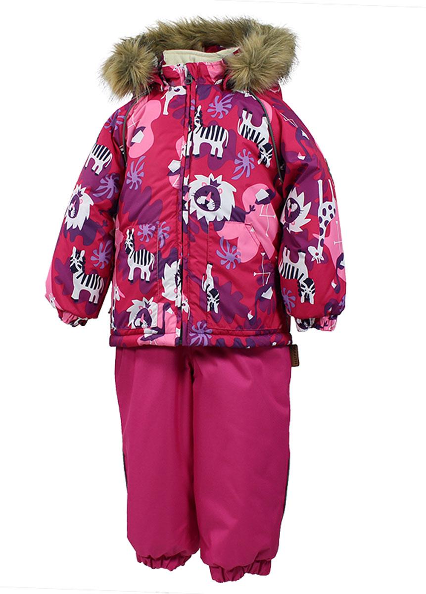 41780030_63120Теплый комплект одежды Huppa Avery, состоящий из куртки и полукомбинезона, идеально подойдет для малыша в холодное время года. Комплект изготовлен из водоотталкивающей и ветрозащитной ткани. Ткань с обратной стороны покрыта слоем полиуретана с микропорами, который препятствует прохождению воды и ветра, но в то же время позволяет испаряться влаге, выделяемой телом. В качестве наполнителя используется HuppaTerm - высокотехнологичный легкий синтетический утеплитель нового поколения. Уникальная структура микроволокон не позволяет проникнуть внутрь холодному воздуху, в то же время удерживая теплый между волокнами, обеспечивая высокую теплоизоляцию. Подкладка выполнена из мягкой и приятной на ощупь фланелевой ткани. Основные швы проклеены водостойкой лентой. Изделие легко стирается и быстро сохнет. Куртка с капюшоном, воротником-стойкой и рукавами-реглан застегивается на пластиковую молнию с защитой подбородка. Модель дополнительно оснащена внутренней ветрозащитной планкой....