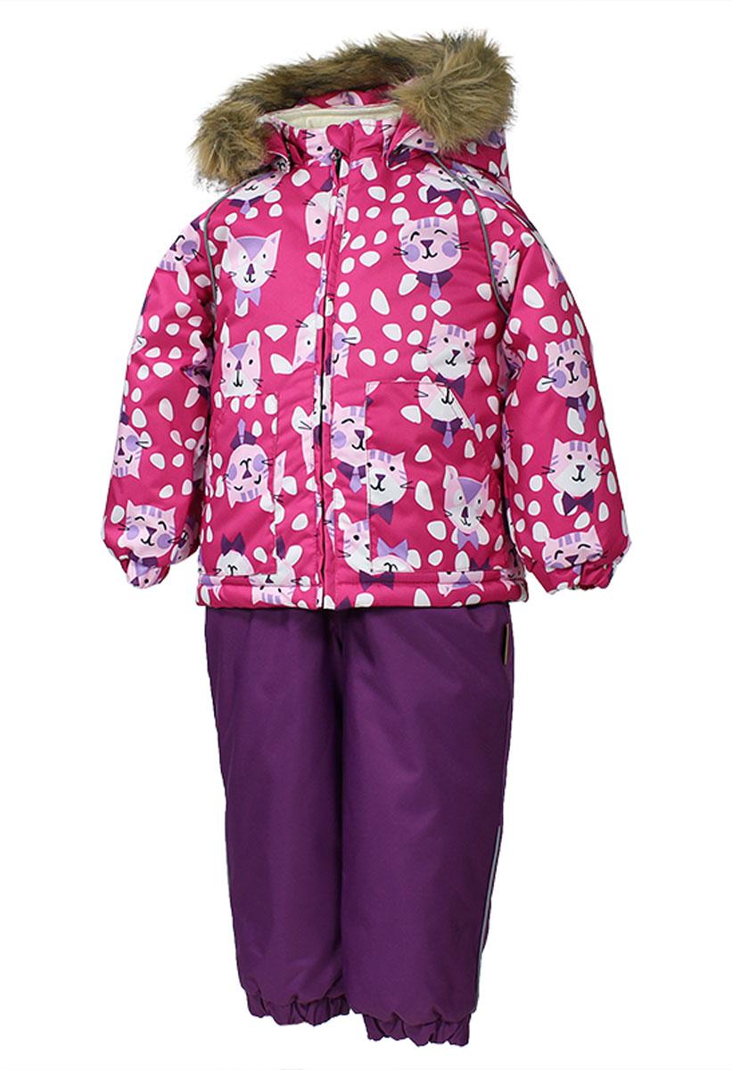 41780030_63220Теплый комплект одежды Huppa Avery, состоящий из куртки и полукомбинезона, идеально подойдет для малыша в холодное время года. Комплект изготовлен из водоотталкивающей и ветрозащитной ткани. Ткань с обратной стороны покрыта слоем полиуретана с микропорами, который препятствует прохождению воды и ветра, но в то же время позволяет испаряться влаге, выделяемой телом. Материал имеет высокие показатели износостойкости. Сплетения волокон в тканях выполнены по специальной технологии, которая придает ткани прочность и предохраняет от истирания. В качестве наполнителя используется HuppaTerm - высокотехнологичный легкий синтетический утеплитель нового поколения. Уникальная структура микроволокон не позволяет проникнуть внутрь холодному воздуху, в то же время удерживая теплый между волокнами, обеспечивая высокую теплоизоляцию. Подкладка выполнена из мягкой и приятной на ощупь фланелевой ткани. Основные швы проклеены водостойкой лентой. Изделие легко стирается и быстро сохнет. ...