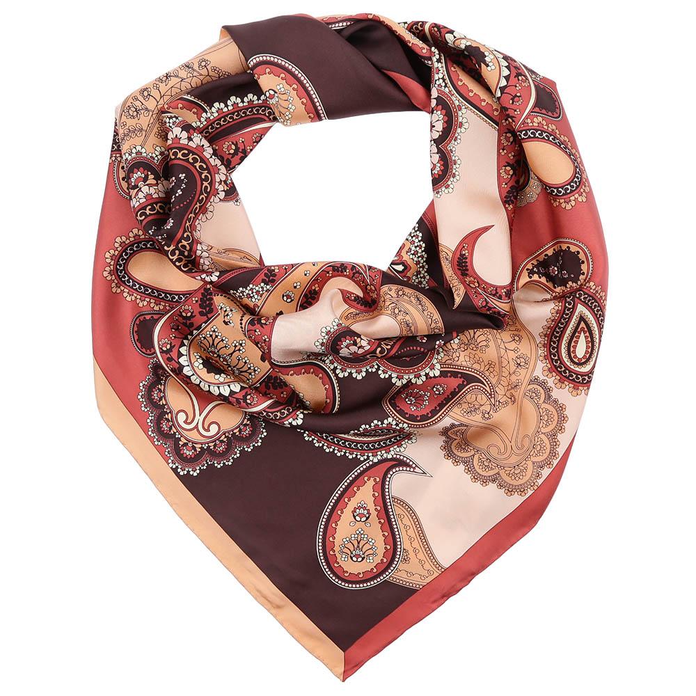 CX1617-10-11Стильный платок станет прекрасным дополнением к вашему образу. Выполнен из высококачественного материала и оформлен оригинальным принтом.