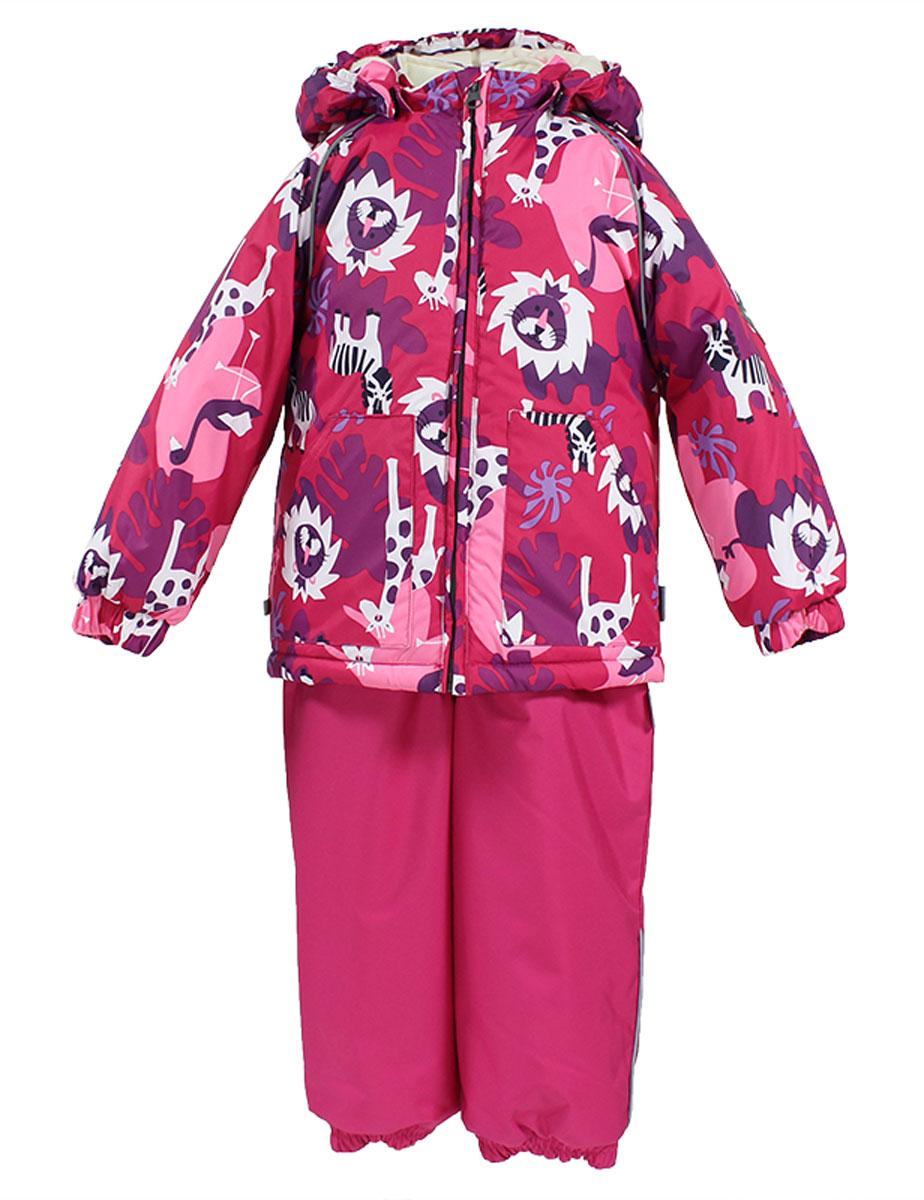 41780130_63120Теплый комплект одежды Huppa Avery1, состоящий из куртки и полукомбинезона, станет отличным дополнением к детскому гардеробу. Комплект изготовлен из водоотталкивающей и ветрозащитной ткани. Ткань с обратной стороны покрыта слоем полиуретана с микропорами, который препятствует прохождению воды и ветра, но в то же время позволяет испаряться влаге, выделяемой телом. В качестве наполнителя используется HuppaTerm - высокотехнологичный легкий синтетический утеплитель нового поколения. Уникальная структура микроволокон не позволяет проникнуть внутрь холодному воздуху, в то же время удерживая теплый между волокнами, обеспечивая высокую теплоизоляцию. Подкладка выполнена из мягкой и приятной на ощупь фланелевой ткани. Основные швы проклеены водостойкой лентой. Изделие легко стирается и быстро сохнет. Куртка с капюшоном, воротником-стойкой и рукавами-реглан застегивается на пластиковую молнию с защитой подбородка. Модель дополнительно оснащена внутренней ветрозащитной...