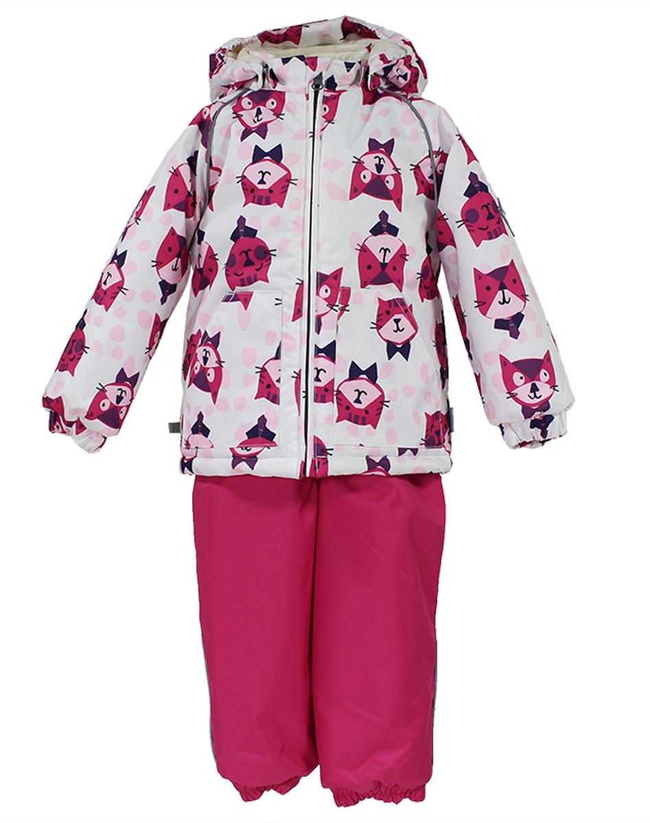 41780130_63220Теплый комплект одежды Huppa Avery1, состоящий из куртки и полукомбинезона, станет отличным дополнением к детскому гардеробу. Комплект изготовлен из водоотталкивающей и ветрозащитной ткани. Ткань с обратной стороны покрыта слоем полиуретана с микропорами, который препятствует прохождению воды и ветра, но в то же время позволяет испаряться влаге, выделяемой телом. Материал имеет высокие показатели износостойкости. Сплетения волокон в тканях выполнены по специальной технологии, которая придает ткани прочность и предохраняет от истирания. В качестве наполнителя используется HuppaTerm - высокотехнологичный легкий синтетический утеплитель нового поколения. Уникальная структура микроволокон не позволяет проникнуть внутрь холодному воздуху, в то же время удерживая теплый между волокнами, обеспечивая высокую теплоизоляцию. Подкладка выполнена из мягкой и приятной на ощупь фланелевой ткани. Основные швы проклеены водостойкой лентой. Изделие легко стирается и быстро сохнет. ...