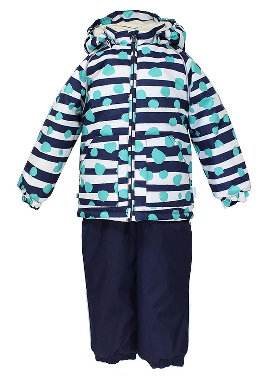 41780130_63363Теплый комплект одежды Huppa Avery1, состоящий из куртки и полукомбинезона, станет отличным дополнением к детскому гардеробу. Комплект изготовлен из водоотталкивающей и ветрозащитной ткани. Ткань с обратной стороны покрыта слоем полиуретана с микропорами, который препятствует прохождению воды и ветра, но в то же время позволяет испаряться влаге, выделяемой телом. Материал имеет высокие показатели износостойкости. Сплетения волокон в тканях выполнены по специальной технологии, которая придает ткани прочность и предохраняет от истирания. В качестве наполнителя используется HuppaTerm - высокотехнологичный легкий синтетический утеплитель нового поколения. Уникальная структура микроволокон не позволяет проникнуть внутрь холодному воздуху, в то же время удерживая теплый между волокнами, обеспечивая высокую теплоизоляцию. Подкладка выполнена из мягкой и приятной на ощупь фланелевой ткани. Основные швы проклеены водостойкой лентой. Изделие легко стирается и быстро сохнет. ...