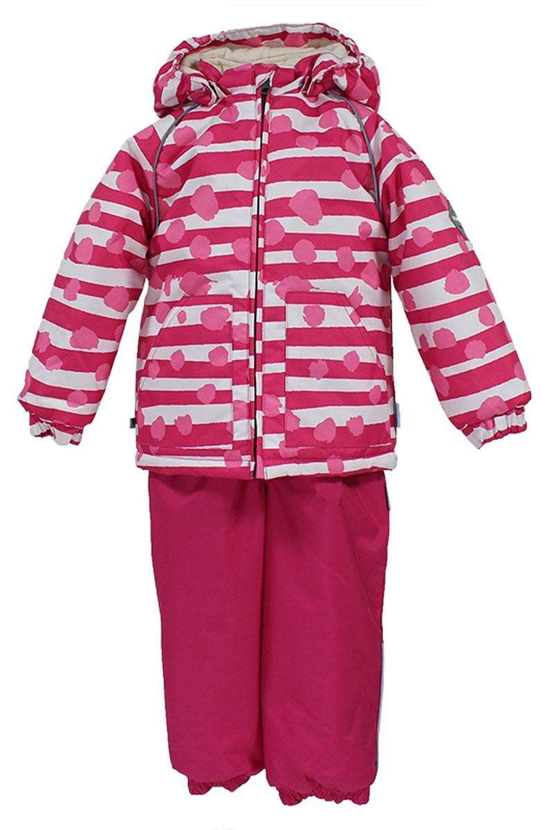 Комплект верхней одежды41780130_63363Теплый комплект одежды Huppa Avery1, состоящий из куртки и полукомбинезона, станет отличным дополнением к детскому гардеробу. Комплект изготовлен из водоотталкивающей и ветрозащитной ткани. Ткань с обратной стороны покрыта слоем полиуретана с микропорами, который препятствует прохождению воды и ветра, но в то же время позволяет испаряться влаге, выделяемой телом. Материал имеет высокие показатели износостойкости. Сплетения волокон в тканях выполнены по специальной технологии, которая придает ткани прочность и предохраняет от истирания. В качестве наполнителя используется HuppaTerm - высокотехнологичный легкий синтетический утеплитель нового поколения. Уникальная структура микроволокон не позволяет проникнуть внутрь холодному воздуху, в то же время удерживая теплый между волокнами, обеспечивая высокую теплоизоляцию. Подкладка выполнена из мягкой и приятной на ощупь фланелевой ткани. Основные швы проклеены водостойкой лентой. Изделие легко стирается и быстро сохнет. ...