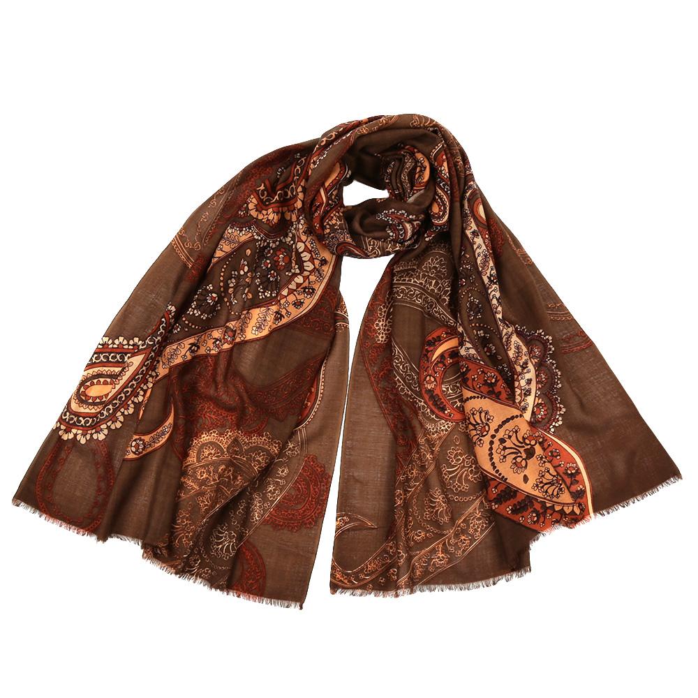 ШарфYNNT16197-3Стильный шарф поможет внести живость в любой образ, подарит уют и согреет от холодного ветра. Выполнен из высококачественного материала и оформлен оригинальным принтом.