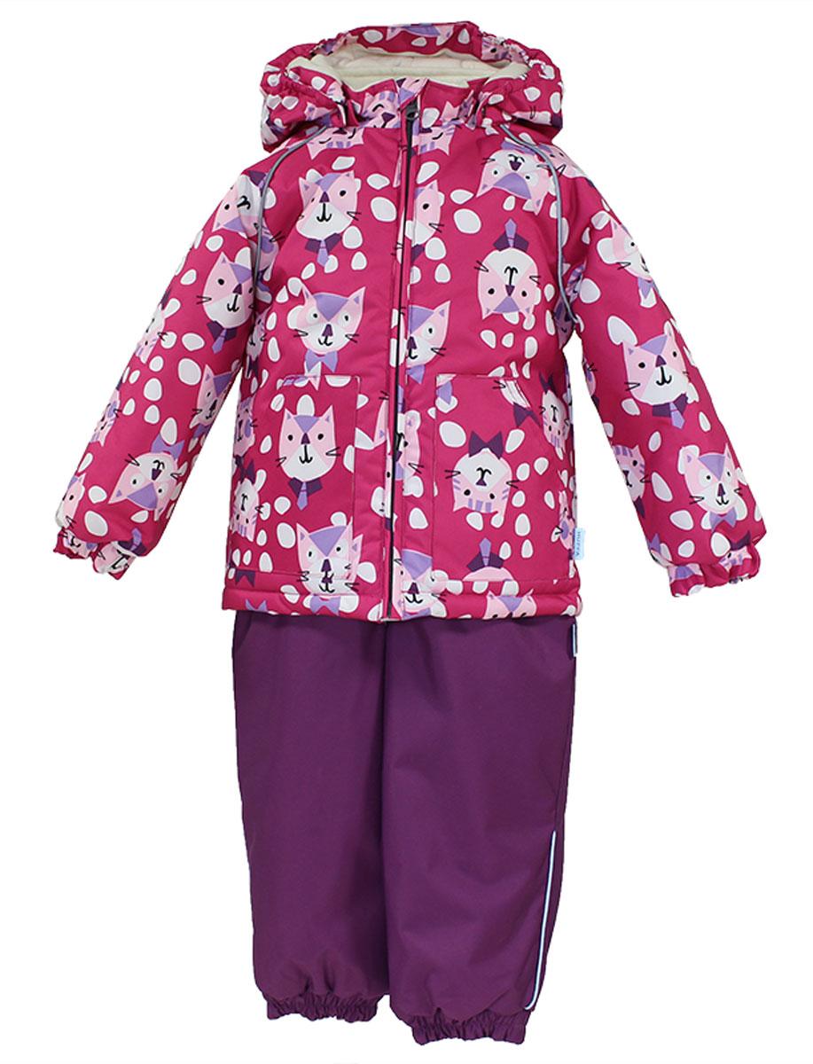 Комплект верхней одежды41780130_63220Теплый комплект одежды Huppa Avery1, состоящий из куртки и полукомбинезона, станет отличным дополнением к детскому гардеробу. Комплект изготовлен из водоотталкивающей и ветрозащитной ткани. Ткань с обратной стороны покрыта слоем полиуретана с микропорами, который препятствует прохождению воды и ветра, но в то же время позволяет испаряться влаге, выделяемой телом. Материал имеет высокие показатели износостойкости. Сплетения волокон в тканях выполнены по специальной технологии, которая придает ткани прочность и предохраняет от истирания. В качестве наполнителя используется HuppaTerm - высокотехнологичный легкий синтетический утеплитель нового поколения. Уникальная структура микроволокон не позволяет проникнуть внутрь холодному воздуху, в то же время удерживая теплый между волокнами, обеспечивая высокую теплоизоляцию. Подкладка выполнена из мягкой и приятной на ощупь фланелевой ткани. Основные швы проклеены водостойкой лентой. Изделие легко стирается и быстро сохнет. ...