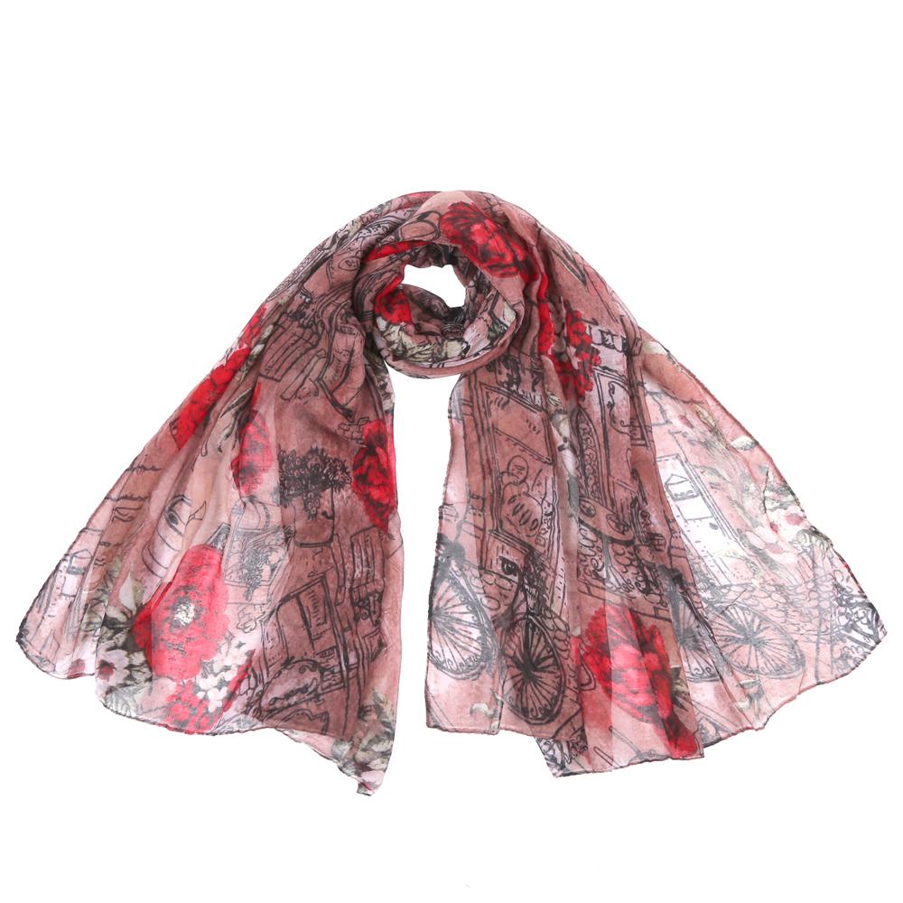 ШарфSR12753-2Стильный шарф поможет внести живость в любой образ, подарит уют и согреет от холодного ветра. Выполнен из высококачественного материала и оформлен оригинальным принтом.