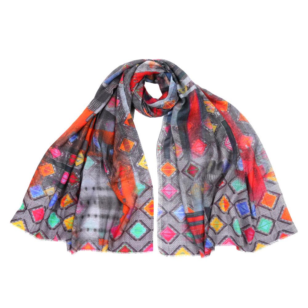 ШарфSH-2016-2Стильный шарф поможет внести живость в любой образ, подарит уют и согреет от холодного ветра. Выполнен из высококачественного материала и оформлен оригинальным принтом.