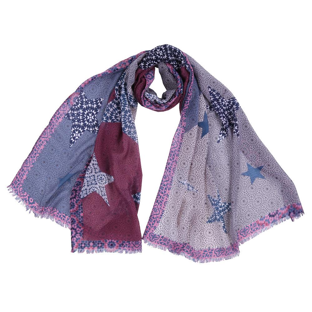ШарфFR1510-1Стильный шарф поможет внести живость в любой образ, подарит уют и согреет от холодного ветра. Выполнен из высококачественного материала и оформлен оригинальным принтом.