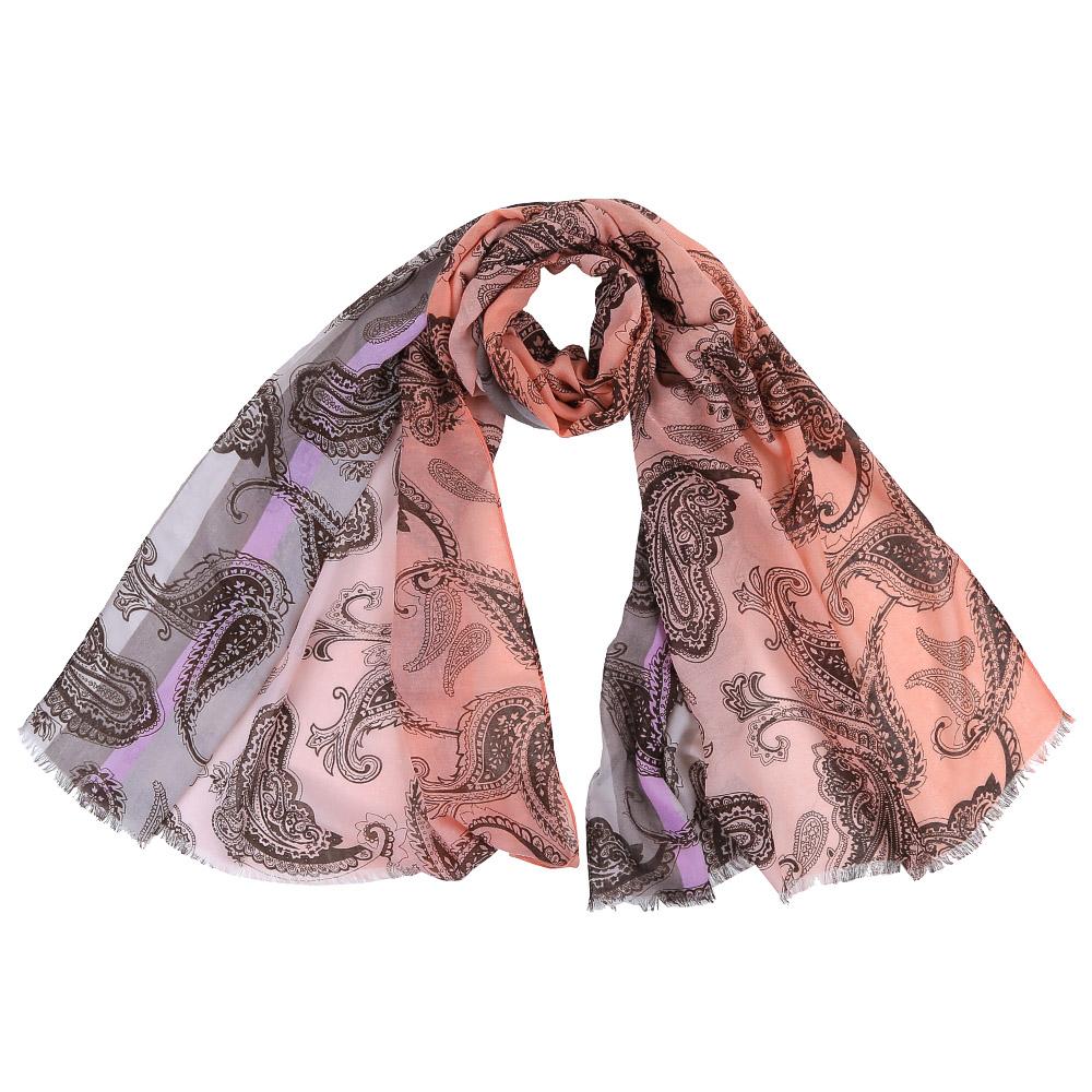 ШарфFR1501-2Стильный шарф поможет внести живость в любой образ, подарит уют и согреет от холодного ветра. Выполнен из высококачественного материала и оформлен оригинальным принтом.