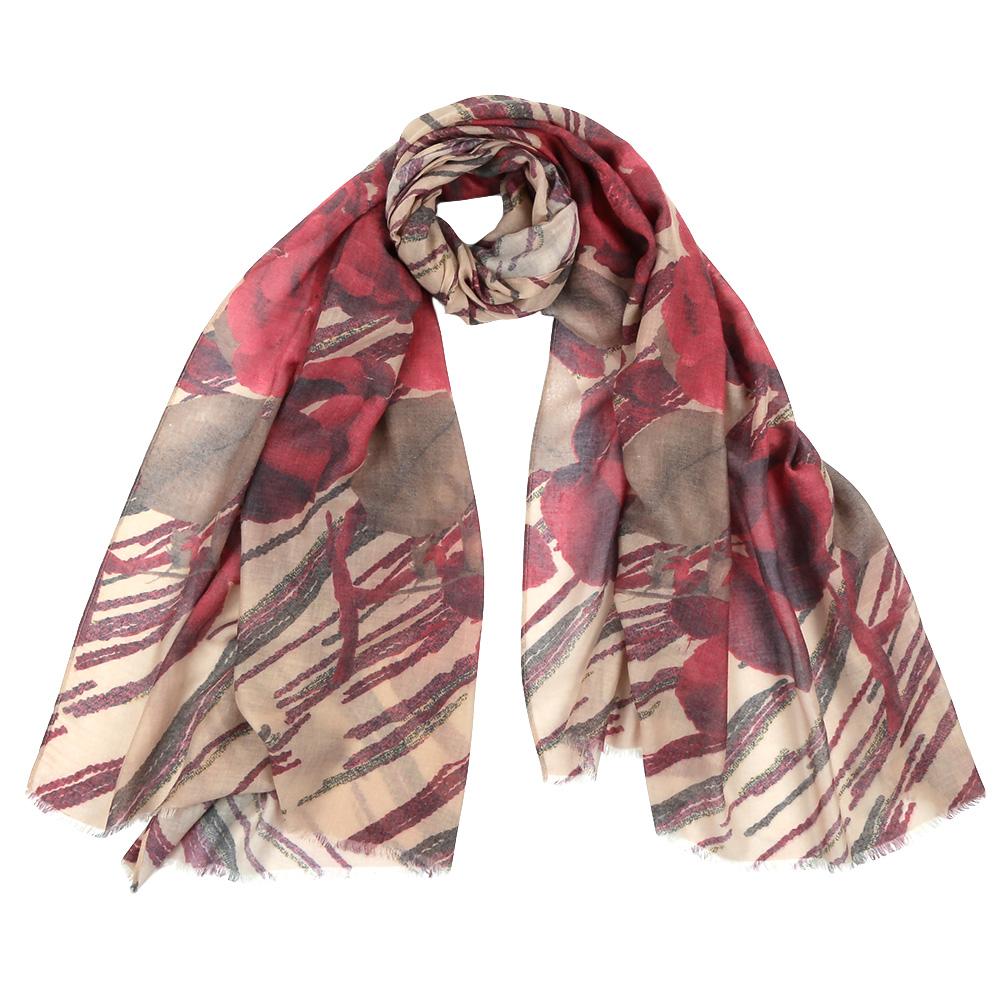 ШарфF1506-3Стильный шарф поможет внести живость в любой образ, подарит уют и согреет от холодного ветра. Выполнен из высококачественного материала и оформлен оригинальным принтом.