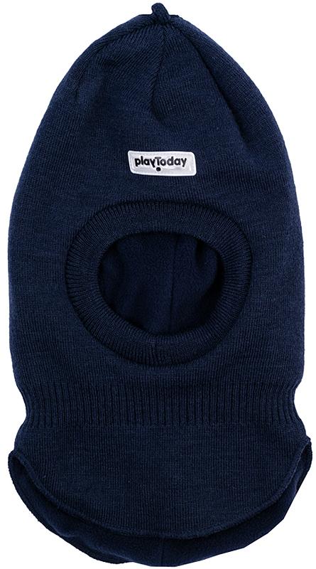 Шапка детская361130Теплая шапка-шлем из вязаного трикотажа надежно защитит ребенка от ветра