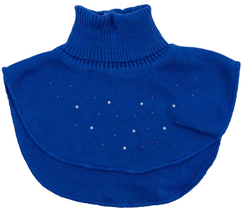 Шарф детский362185Уютный вязаный шарф-воротник. Украшен сверкающими стразами. Верх на мягкой резинке.