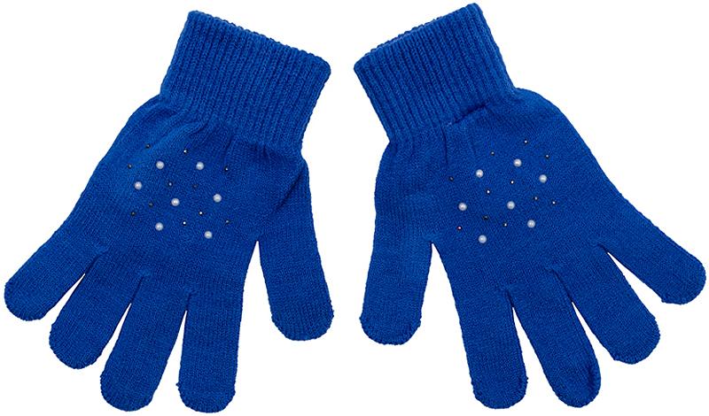 Перчатки детские362188Яркие перчатки из вязаного трикотажа. Украшены россыпью сверкающих страз. Верх на мягкой резинке.