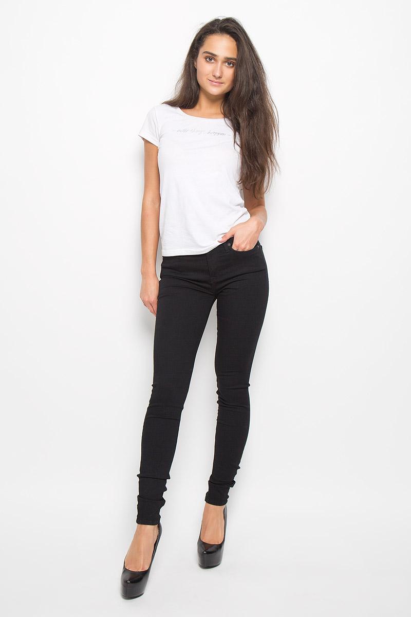 16049133_Black DenimСтильные женские джинсы Selected Femme подчеркнут ваш уникальный стиль и помогут создать оригинальный женственный образ. Модель выполнена из высококачественного эластичного хлопка с добавлением вискозы и полиэстера. Материал мягкий и приятный на ощупь, не сковывает движения и позволяет коже дышать. Джинсы-скинни с завышенной посадкой застегиваются на пуговицу в поясе и ширинку на застежке-молнии. На поясе предусмотрены шлевки для ремня. Джинсы имеют классический пятикарманный крой: спереди модель оформлена двумя втачными карманами и одним маленьким накладным кармашком, а сзади - двумя накладными карманами. Эти модные и в тоже время комфортные джинсы послужат отличным дополнением к вашему гардеробу.