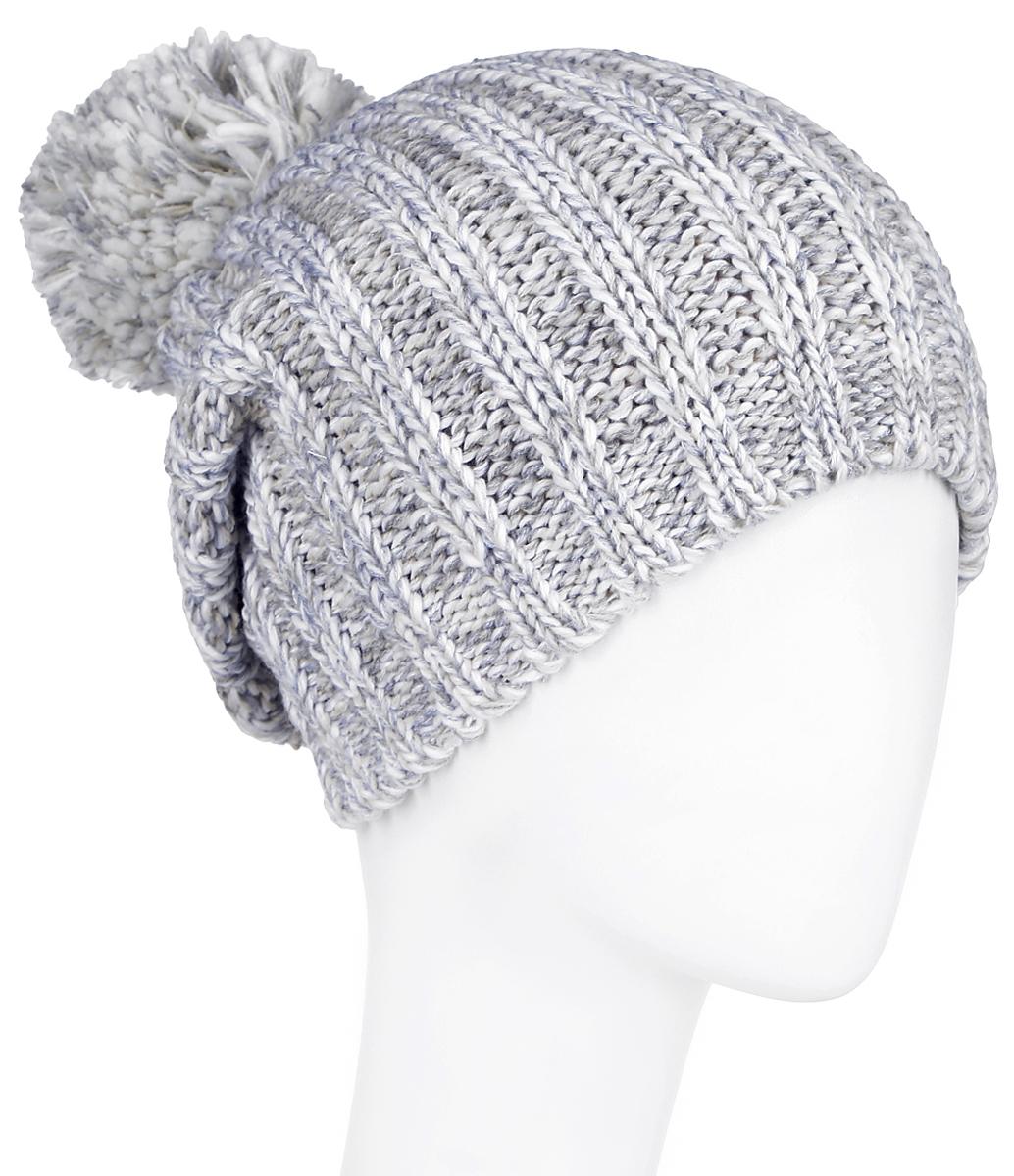 A16-32121_201Стильная женская шапка Finn Flare дополнит ваш наряд и не позволит вам замерзнуть в холодное время года. Шапка выполнена из высококачественной, комбинированной пряжи, что позволяет ей великолепно сохранять тепло и обеспечивает высокую эластичность и удобство посадки. Изделие дополнено теплой флисовой подкладкой. Модель с удлиненной макушкой оформлена оригинальным узором и дополнена пушистым помпоном. Такая шапка станет модным и стильным дополнением вашего гардероба. Она согреет вас и позволит подчеркнуть свою индивидуальность! Уважаемые клиенты! Размер, доступный для заказа, является обхватом головы.