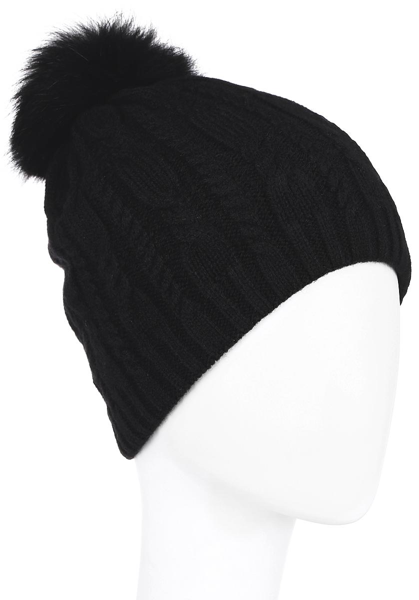 ШапкаA16-11152_211Стильная женская шапка Finn Flare дополнит ваш наряд и не позволит вам замерзнуть в холодное время года. Шапка выполнена из высококачественной, комбинированной пряжи, что позволяет ей великолепно сохранять тепло и обеспечивает высокую эластичность и удобство посадки. Изделие дополнено теплой флисовой подкладкой. Модель оформлена оригинальным узором и дополнена пушистым помпоном из меха песца. Такая шапка станет модным и стильным дополнением вашего гардероба. Она согреет вас и позволит подчеркнуть свою индивидуальность! Уважаемые клиенты! Размер, доступный для заказа, является обхватом головы.