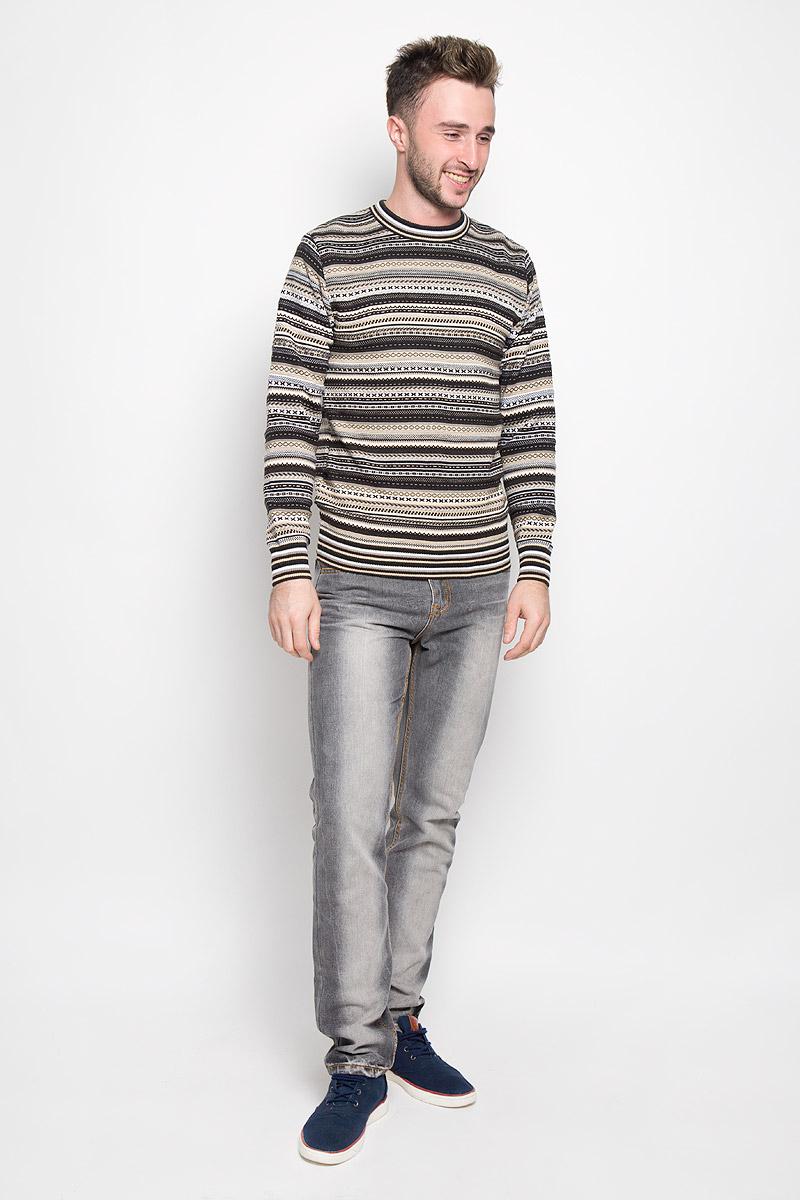 Джемпер1480Стильный мужской джемпер Milana Style, выполненный из высококачественного материала, необычайно мягкий и приятный на ощупь, не сковывает движения, обеспечивая наибольший комфорт. Модель с круглым вырезом горловины и длинными рукавами идеально гармонирует с любыми предметами одежды и будет уместен и на отдых, и на работу. Низ изделия, горловина и манжеты связаны широкой резинкой, что предотвращает деформацию при носке. Мягкий и уютный джемпер станет прекрасным дополнением вашего гардероба.