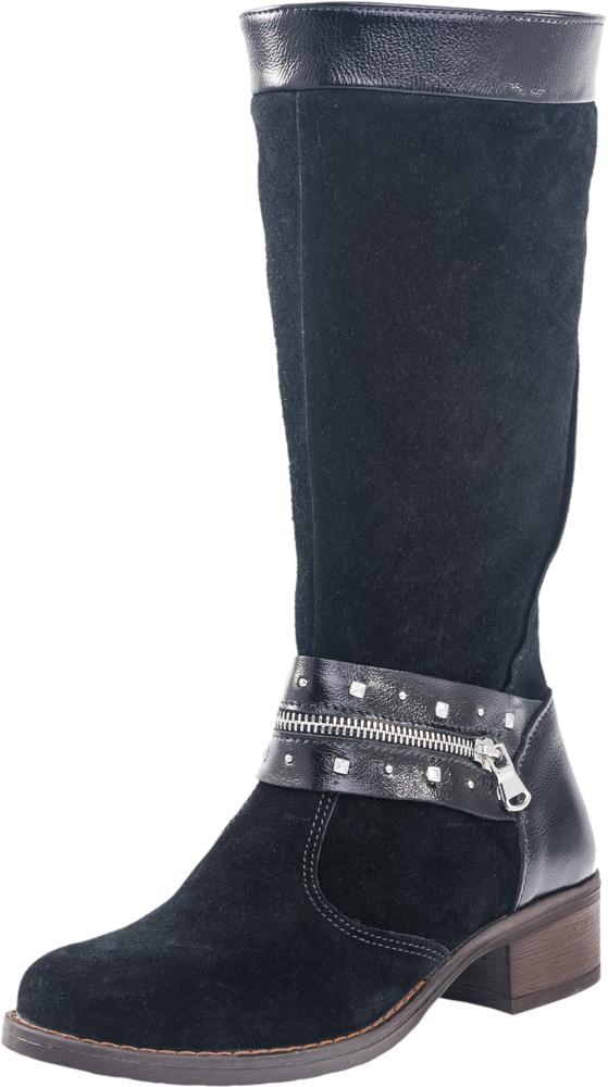 762033-31Изящные сапоги для настоящей модницы выполнены из качественной натуральной кожи. Сапожки имеют застёжку-молнию. Спереди модель украшена декоративным ремнём. Подошва клеевая с небольшим каблуком. Материал подкладки - байка с содержанием шерсти 80%.отводит влагу от ноги, придает дополнительный комфорт