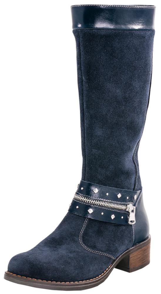 762033-32Изящные сапоги для настоящей модницы выполнены из качественной натуральной кожи. Сапожки имеют застёжку-молнию. Спереди модель украшена декоративным ремнём. Подошва клеевая с небольшим каблуком. Материал подкладки - байка с содержанием шерсти 80%.отводит влагу от ноги, придает дополнительный комфорт