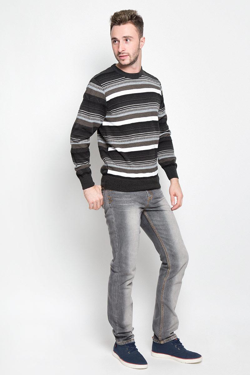 Джемпер1244Мужской джемпер Milana Style идеально дополнит ваш образ в прохладную погоду. Выполненный из шерсти и ПАН, он мягкий и приятный на ощупь, не сковывает движения. Джемпер с круглым вырезом горловины и длинными рукавами оформлен полосками. Низ изделия и манжеты связаны резинкой, что предотвращает деформацию при носке. Дизайн и расцветка делают этот джемпер стильным предметом мужской одежды. Такая модель подарит вам комфорт в течение всего дня!