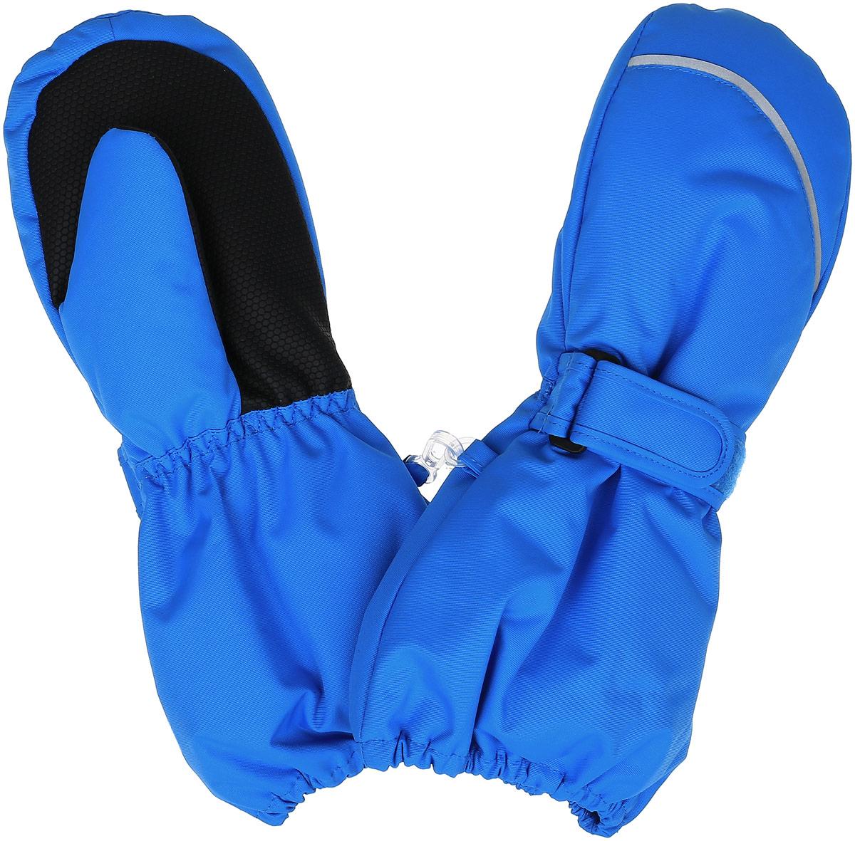 Варежки детские527256_4900Теплые варежки Reima Tomino с высокой степенью утепления, идеально подойдут для прогулок и игр на свежем воздухе! Варежки изготовлены из водонепроницаемой и ветрозащитной мембранной ткани, утеплитель Reima Comfort - 80 г/м.кв. Благодаря специальной обработке полиуретаном поверхность изделия отталкивает грязь и воду, что облегчает поддержание аккуратного вида. Дышащий материал хорошо пропускает воздух, обеспечивая комфорт при носке. Варежки на теплой подкладке, дополнены длинными широкими манжетами, а также эластичной резинкой на запястье и по краю изделия. С внешней стороны варежки дополнены хлястиками на липучках. Предусмотрены светоотражающие вставки для безопасности в темное время суток. Оригинальный дизайн и модная расцветка делают эти варежки модным и стильным предметом детского гардероба. В них ваш ребенок будет чувствовать себя уютно и комфортно и всегда будет в центре внимания! Температурный режим от 0С до -25С