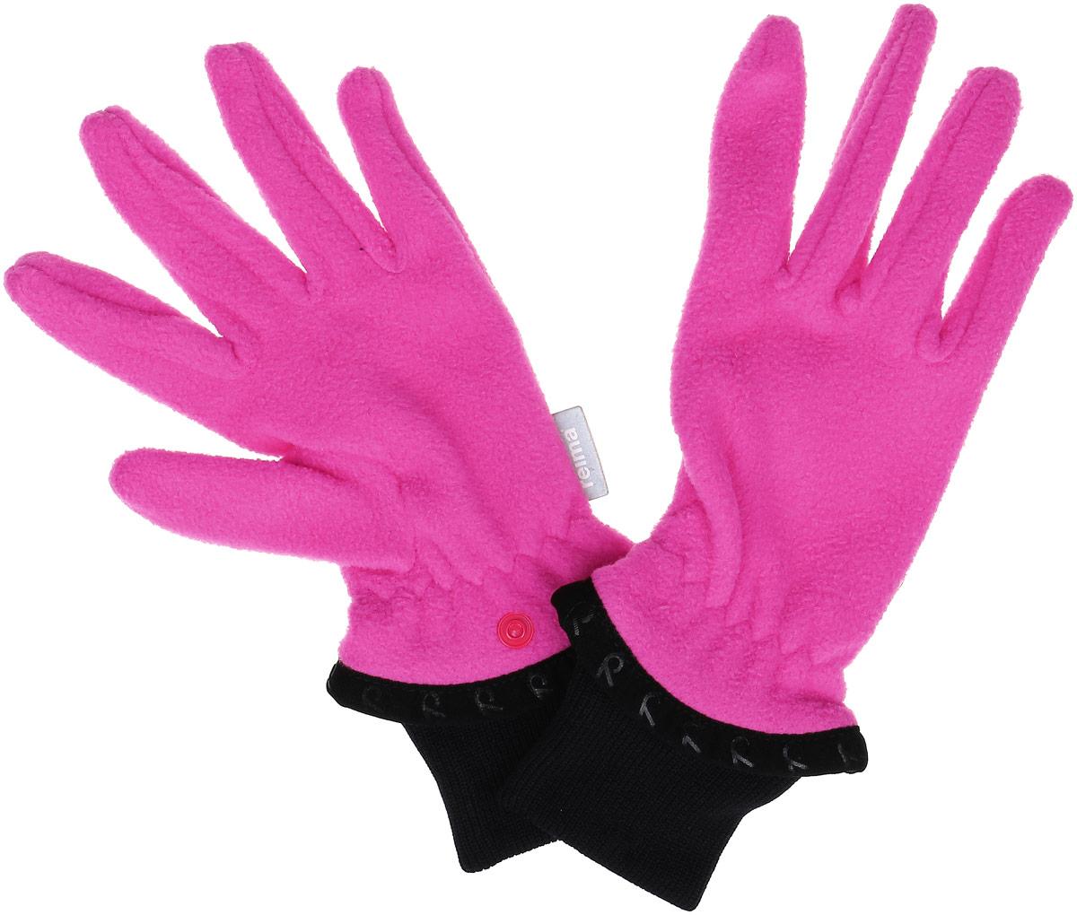 527191-4620AДетские флисовые перчатки Reima Tollense согреют ручки вашего ребенка в холодную погоду. Флисовый материал - теплый и мягкий на ощупь. Эластичные ребристые манжеты перчаток плотно облегают и хорошо смотрятся. Благодаря кнопкам вы легко можете соединить перчатки вместе для удобства хранения. В ясные осенние и весенние дни эти перчатки – сами по себе великолепный выбор для игр на воздухе, в то время как зимой их можно одеть под зимние варежки или перчатки для дополнительного тепла.
