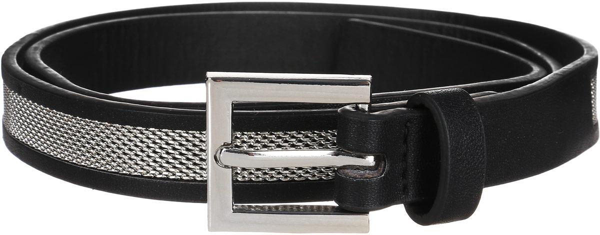 B386510_BlackСтильный женский ремень Baon станет идеальным дополнением к вашему образу. Изделие изготовлено из качественного полиуретана зернистой текстуры. Ремень оформлен декоративным металлическим элементом. Пряжка, с помощью которой регулируется длина ремня, выполнена из качественного металла. Такой ремень станет незаменимым аксессуаром в вашем гардеробе, который подчеркнет ваш стиль и индивидуальность.
