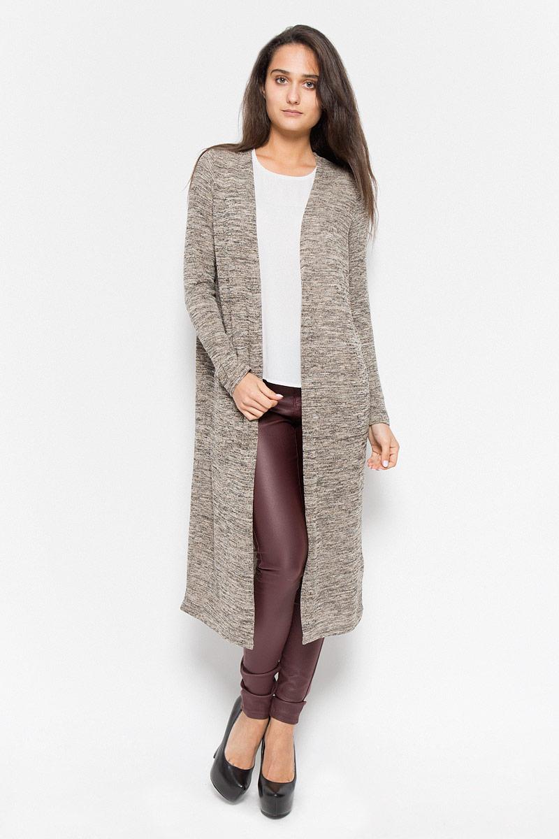 10159463_BlackКлассический женский кардиган Vero Moda будет гармонично смотреться в сочетании, как с джинсами, брюками, так и с юбками. Выполнен кардиган из высококачественной пряжи, мягкий и приятный на ощупь. В нем вы будете чувствовать себя уютно в прохладное время года.