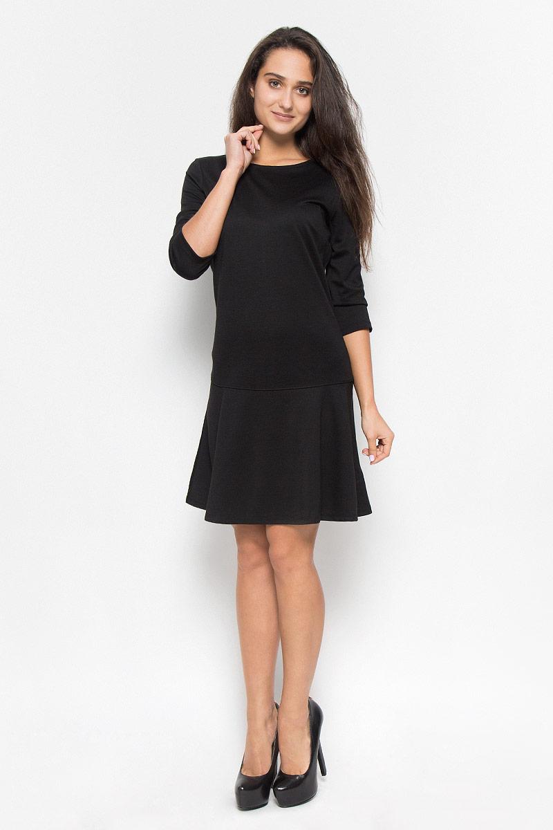 Платье5019558.00.75_2999Элегантное платье Tom Tailor выполнено из натурального хлопка. Такое платье обеспечит вам комфорт и удобство при носке и непременно вызовет восхищение у окружающих. Модель средней длины с рукавами до локтя и круглым вырезом горловины выгодно подчеркнет все достоинства вашей фигуры. Платье застегивается на застежку-молнию на спинке. Изысканное платье-миди создаст обворожительный и неповторимый образ. Это модное и комфортное платье станет превосходным дополнением к вашему гардеробу, оно подарит вам удобство и поможет подчеркнуть ваш вкус и неповторимый стиль.