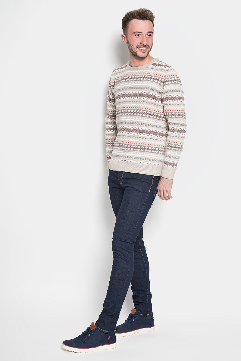 JR-214/832-6424Стильный мужской джемпер Sela Casual Wear согреет вас в прохладную погоду и подчеркнет ваш стиль. Модель выполнена из очень мягкого и приятного материала и оформлена оригинальным узором. Низ изделия, манжеты и горловина связаны резинкой. Модный дизайн и совершенство стиля подчеркнут вашу индивидуальность.