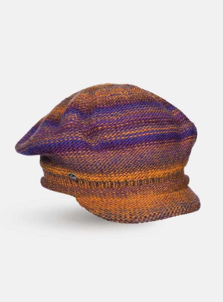 Кепка3440316Женская кепочка из высококачественной итальянской полушерстяной пряжи с эффектом радуги. Невероятно тёплая, с необычными цветовыми сочетаниями и смелыми переходами, она создаст комфорт и выделит вас из серой массы.