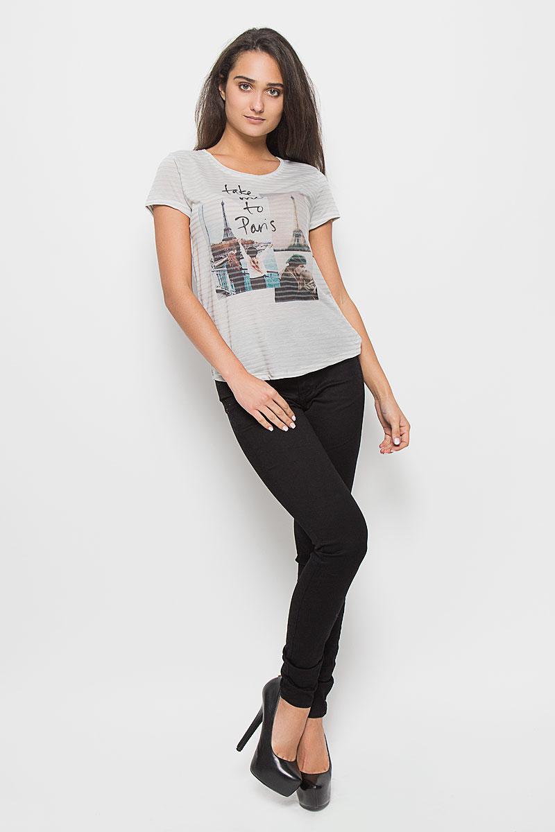 Футболка1035531.01.71_4728Стильная женская футболка Tom Tailor Denim, выполненная из полиэстера с добавлением хлопка, обладает высокой теплопроводностью, воздухопроницаемостью и гигроскопичностью, позволяет коже дышать. Модель с короткими рукавами и круглым вырезом горловины - идеальный вариант для создания стильного современного образа. Футболка оформлена оригинальным принтом с изображением фотографий Парижа и надписи Take Me To Paris. Такая модель подарит вам комфорт в течение всего дня и послужит замечательным дополнением к вашему гардеробу.