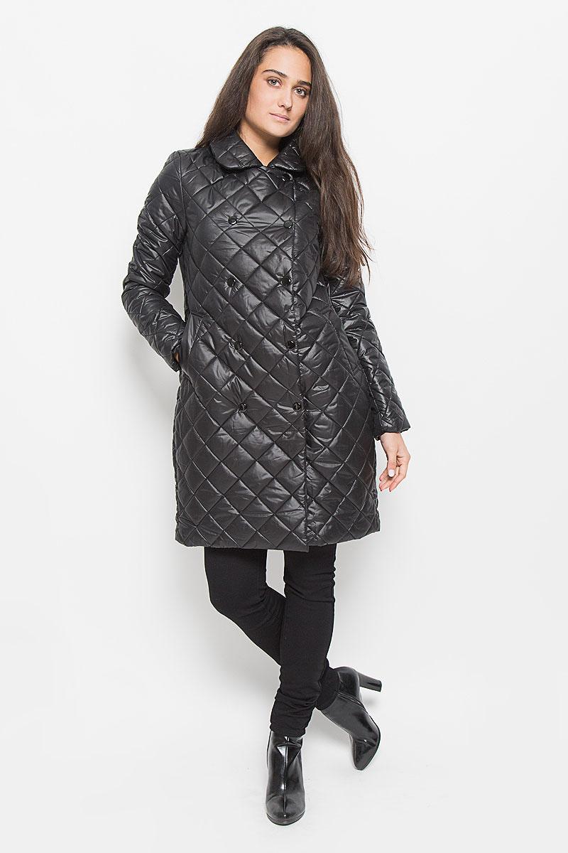 ПальтоCep-126/701-6312Удобное женское пальто Sela Casual согреет вас в прохладную погоду и позволит выделиться из толпы. Модель с длинными рукавами и отложным воротником выполнена из полиэстера, застегивается на кнопки спереди. Изделие имеет подкладку из полиэстера и наполнитель из синтепона. Спереди расположены два втачных кармана. Такое пальто надежно сохранит тепло и защитит вас от ветра и холода. Это модное и уютное пальто - отличный вариант для прогулок, оно подчеркнет ваш изысканный вкус и поможет создать неповторимый образ.
