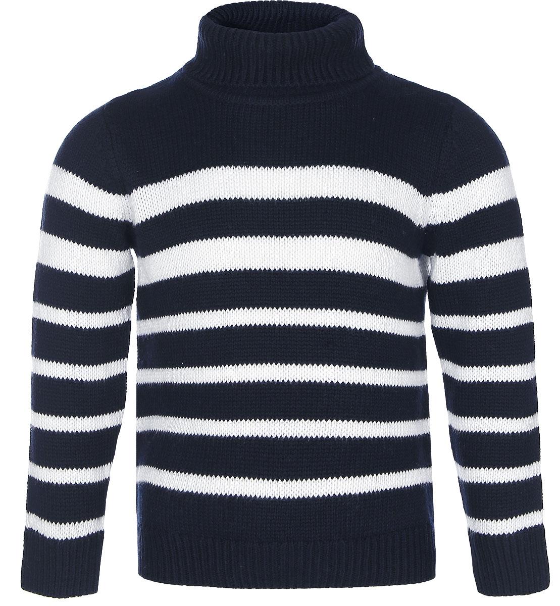 СвитерJR-714/046-6425Теплый вязаный свитер для мальчика Sela идеально подойдет вашему ребенку в прохладные дни. Изготовленный из пряжи смешанного состава, он необычайно мягкий и приятный на ощупь, не сковывает движения и хорошо сохраняет тепло, обеспечивая наибольший комфорт. Уютный вязаный свитер с длинными рукавами имеет высокий воротник-гольф с отворотом. Низ рукавов, воротник и низ изделия дополнены вязаной крупной резинкой. Такой свитер послужит отличным дополнением к гардеробу вашего ребенка. Он улучшит настроение даже в хмурые холодные дни!