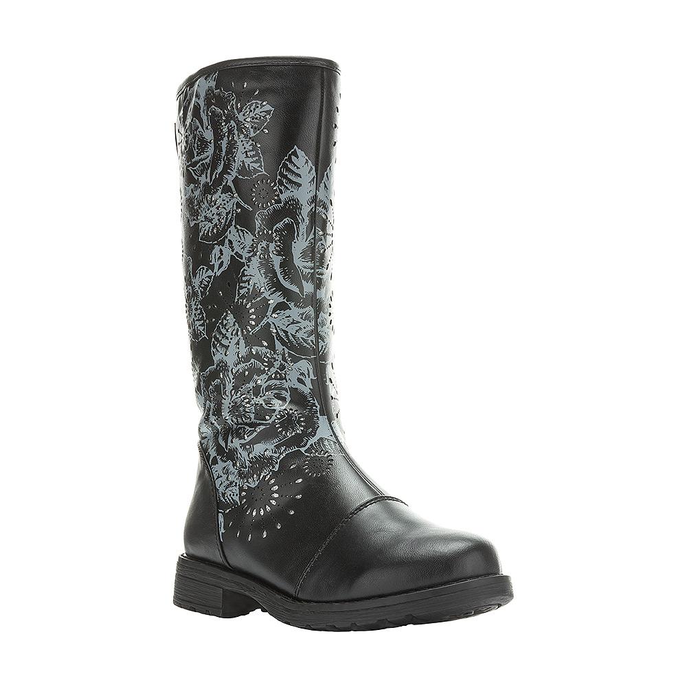 6286BУльтрамодные сапоги от Kakadu придутся по душе, как юным модницам, так и их заботливым родителям. Модель выполнена из искусственной кожи и оформлена очаровательным принтом. Застежка-молния надежно фиксирует изделие на ноге. Подкладка из искусственной шерсти обеспечивает ногам тепло и сухость при любых климатических условиях. Подошва из термопластичной резины обеспечит легкость и естественную свободу движений.