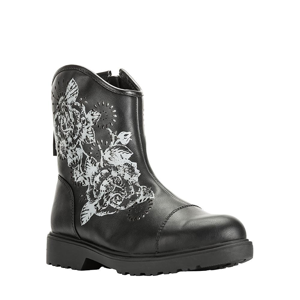 6283AУльтрамодные полусапоги от Kakadu придутся по душе, как юным модницам, так и их заботливым родителям. Модель выполнена из искусственной кожи и оформлена очаровательным принтом. Застежка-молния надежно фиксирует изделие на ноге. Подкладка из искусственной шерсти обеспечивает ногам тепло и сухость при любых климатических условиях. Подошва из термопластичной резины обеспечит легкость и естественную свободу движений.