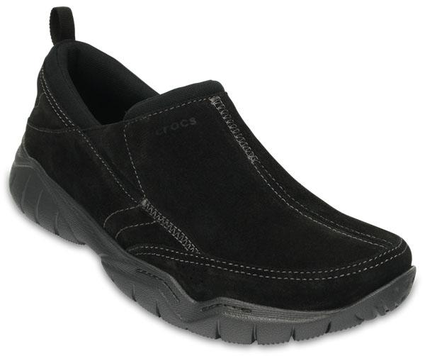 203568-02SВы предпочитаете прогулки и активный образ жизни? Модель Swiftwater Leather от Crocs создана специально для вас. Мужские полуботинки выполнены из натуральной замши. На подъеме они дополнены эластичными вставками для удобства надевания. Протекторированная подошва из материала Croslite обеспечивает улучшенное сцепление с дорогой.